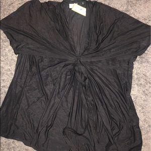 NWT black Letarte brand swim cover up black sm/med